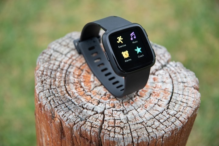 Fitbit-Versa-Overview-On-A-Log
